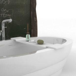 Полка для ванны Square WD01109 Matte White
